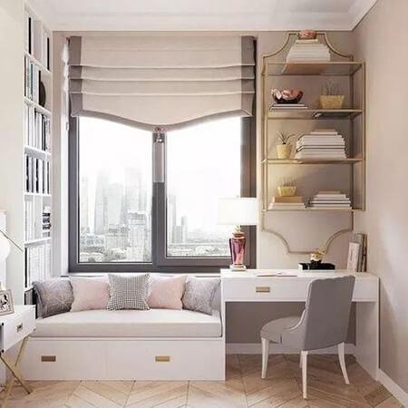 طراحی فضای نشیمن در خانه, انواع نشیمن های کنار پنجره, دکوراسیون نشیمن زیر پنجره