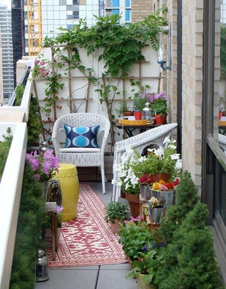 decoration2 balcony16 ایده هایی برای تزیین بالکن