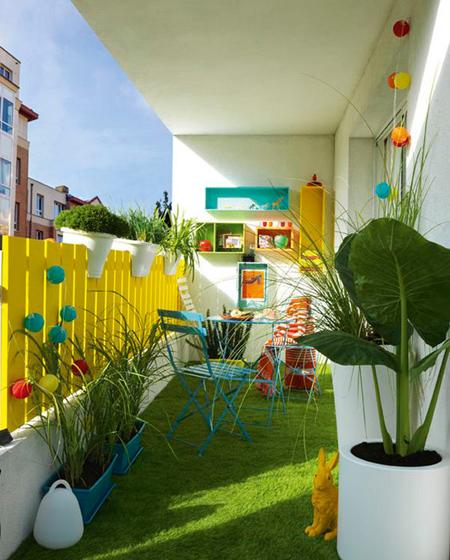 decoration2 balcony19 ایده هایی برای تزیین بالکن