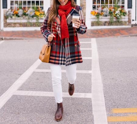 انتخاب لباس گرم پاییزی,انتخاب لباس چهارخانه برای پاییز