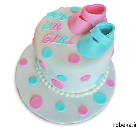 determination1 cake1 مدل کیک تعیین جنسیت جنین