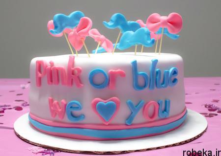 determination1 cake10 مدل کیک تعیین جنسیت جنین