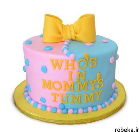 determination1 cake11 مدل کیک تعیین جنسیت جنین