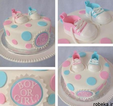determination1 cake5 مدل کیک تعیین جنسیت جنین