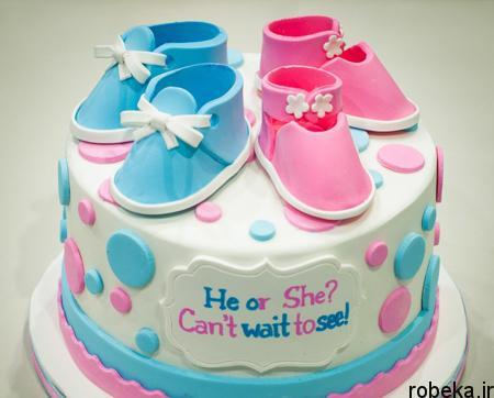 determination1 cake8 مدل کیک تعیین جنسیت جنین