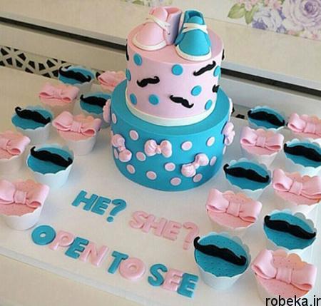 determination1 cake9 مدل کیک تعیین جنسیت جنین