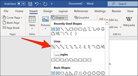 کشیدن خط در ورد, افزودن خط در ورد, آموزش تصویری خط کشیدن در ورد Word