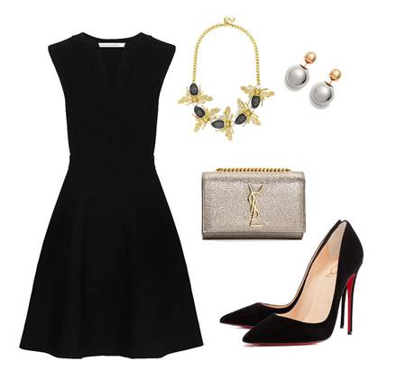 dressed2 black clothing3 چگونه با لباس های مشکی شیک پوش شویم؟