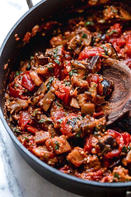 eggplant diet recipe 02 5 روش طرز تهیه غذای رژیمی با بادمجان