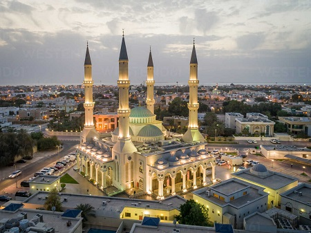 farooq mosque 01 آشنایی با مسجد الفاروق زیباترین مسجد جهان اسلام