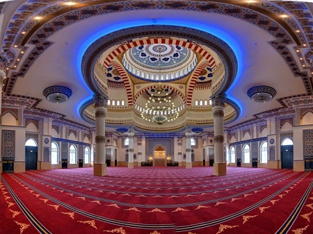 farooq mosque 03 آشنایی با مسجد الفاروق زیباترین مسجد جهان اسلام