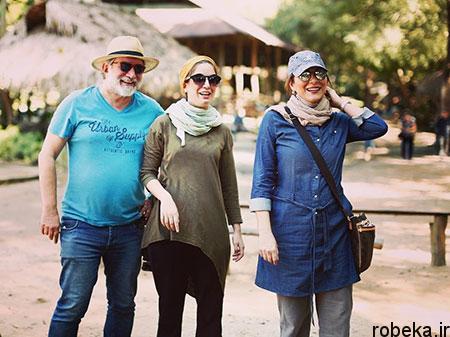 fun2225 6 عکس بازیگران در کنار پدر و مادرهایشان