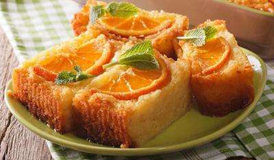 greek1 orange cake1 طرز تهيه كيك پرتقال يوناني