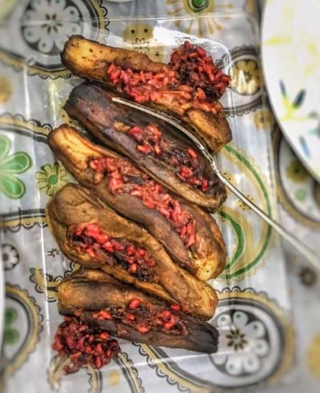 غذای بادمجان کباب گیلانی , بادمجان کباب گیلانی
