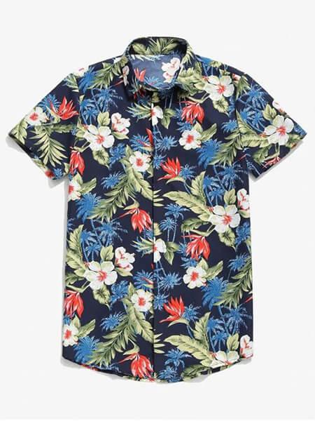 پیراهن هاوایی مردانه, مدل پیراهن های هاوایی