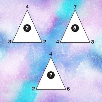 intelligence test triangles1 1 تست هوش: مثلث و اعداد درون و پیرامون