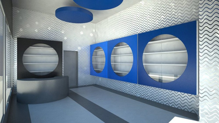 طراحی و چیدمان داخلی مغازه,طراحی ویترین مغازه