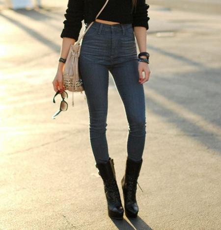 مدل های شلوار جین فاق بلند زنانه,مدل شلوار فاق بلند