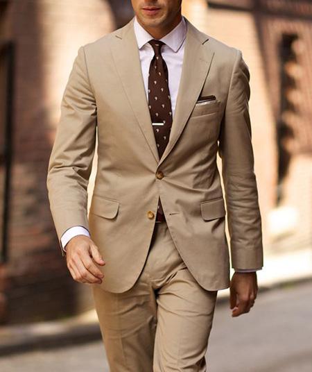 men1 cream2 suit1 set11 ست کت و شلوار کرم مردانه