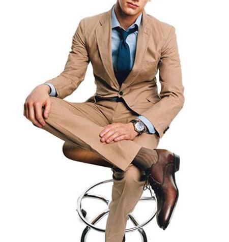 men1 cream2 suit1 set13 ست کت و شلوار کرم مردانه