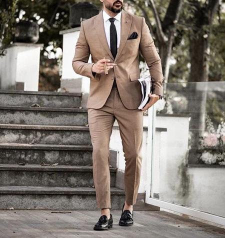 men1 cream2 suit1 set15 ست کت و شلوار کرم مردانه