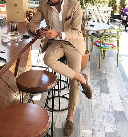 men1 cream2 suit1 set16 ست کت و شلوار کرم مردانه