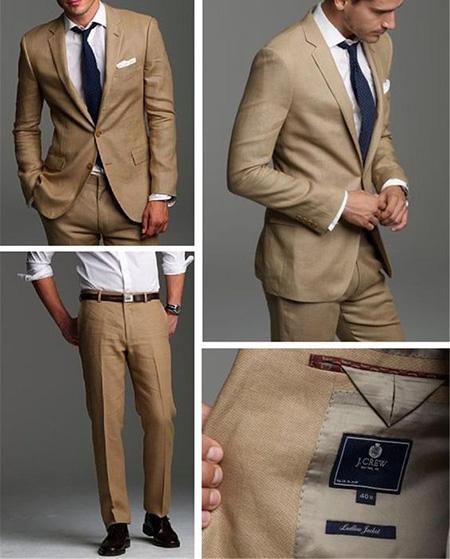 men1 cream2 suit1 set19 ست کت و شلوار کرم مردانه