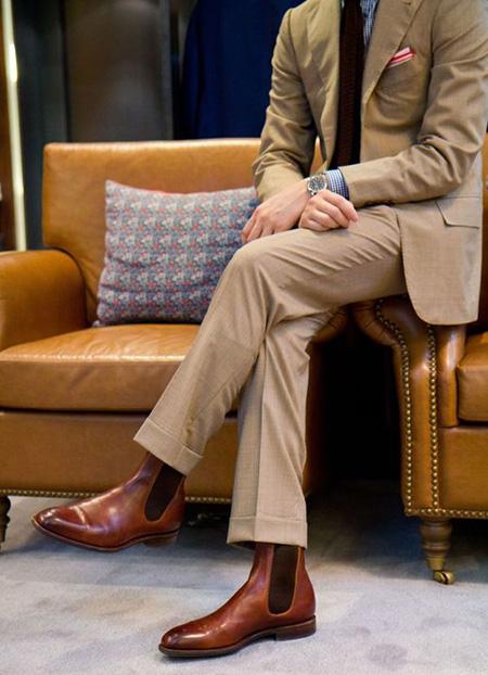 men1 cream2 suit1 set2 ست کت و شلوار کرم مردانه