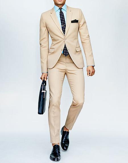 men1 cream2 suit1 set20 ست کت و شلوار کرم مردانه