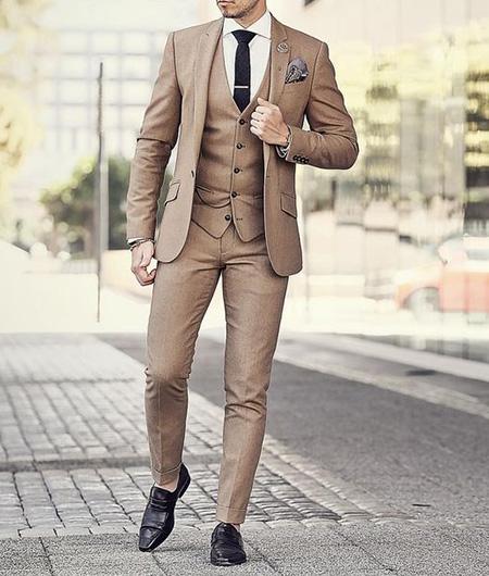 men1 cream2 suit1 set21 ست کت و شلوار کرم مردانه