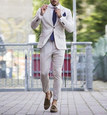 men1 cream2 suit1 set23 ست کت و شلوار کرم مردانه