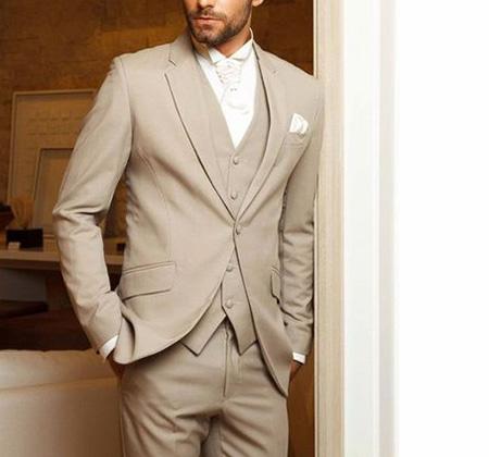 men1 cream2 suit1 set6 ست کت و شلوار کرم مردانه