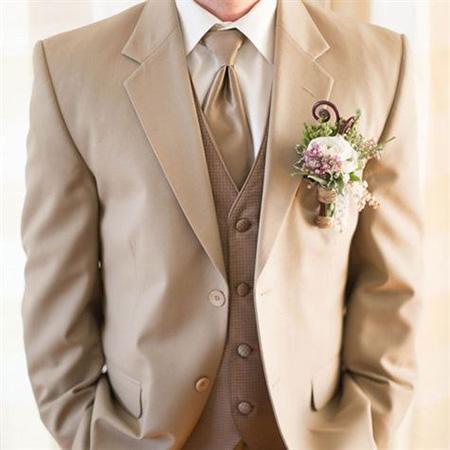 men1 cream2 suit1 set7 ست کت و شلوار کرم مردانه