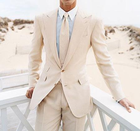 men1 cream2 suit1 set8 ست کت و شلوار کرم مردانه