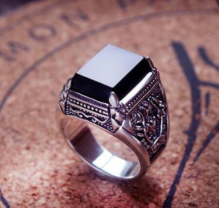 انگشتر نگین دار مردانه,انگشترهای مردانه جدید,مدل انگشتر نقره مردانه