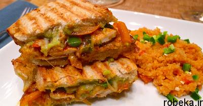 mexican2 chicken2 sandwich طرز تهیه ساندویچ مرغ مکزیکی