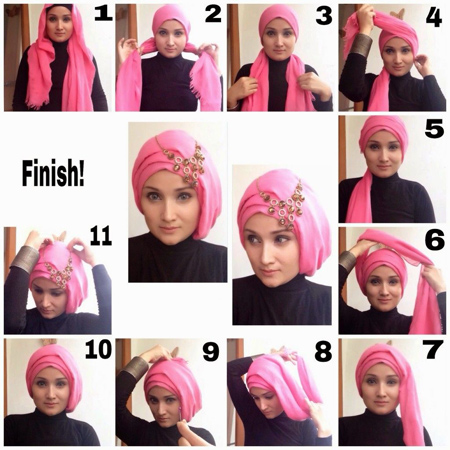 نحوه بستن شال و روسری,مدل بستن روسری