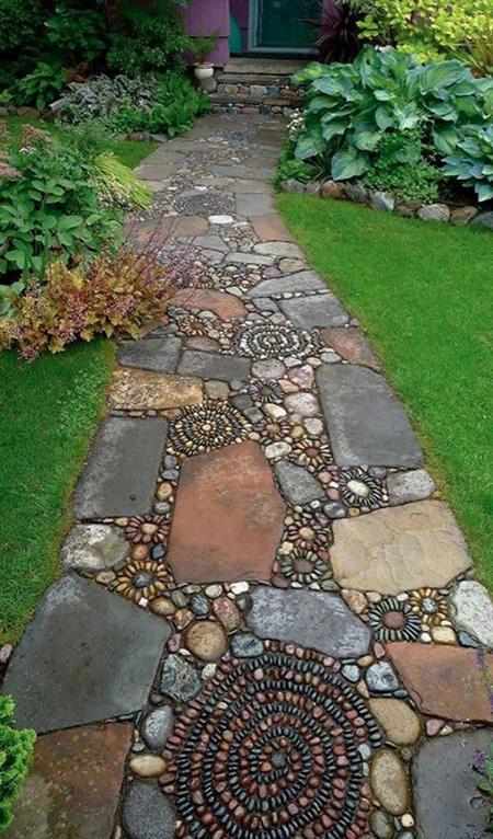 mo14386 نمونه هایی از سنگ فرش باغ و حیاط