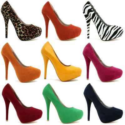 mo28122 روش های ست کردن کفش های پاشنه بلند رنگی