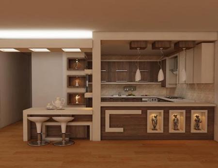 کابینت های شیک آشپزخانه,جدیدترین مدل کابینت