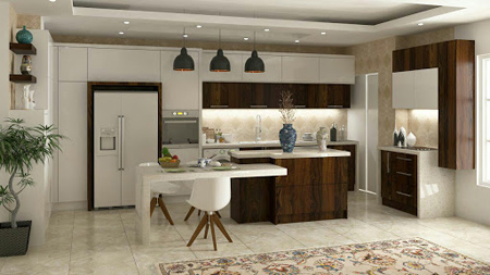 کابینت ام دی اف آشپزخانه,مدل کابینت ام دی اف