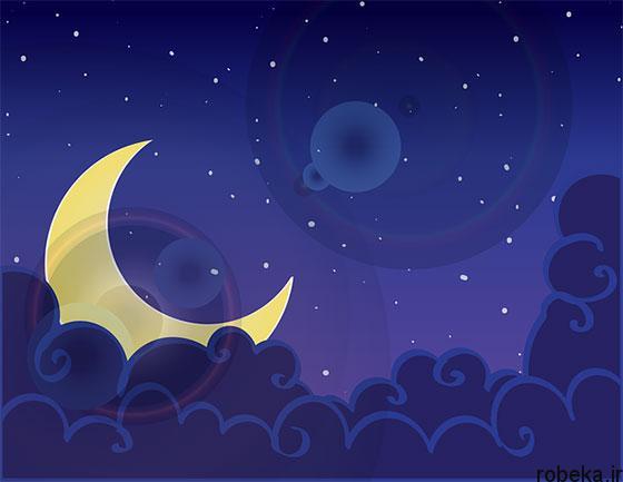 moon stars profile photos 1 عکس پروفایل ماه و ستاره فانتزی و کارتونی زیبا در شب