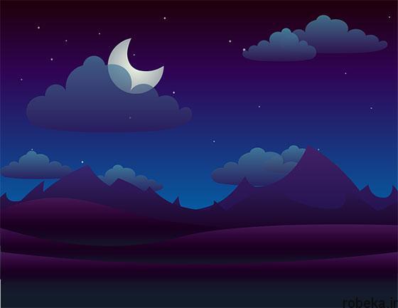 moon stars profile photos 10 عکس پروفایل ماه و ستاره فانتزی و کارتونی زیبا در شب