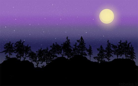 moon stars profile photos 14 عکس پروفایل ماه و ستاره فانتزی و کارتونی زیبا در شب