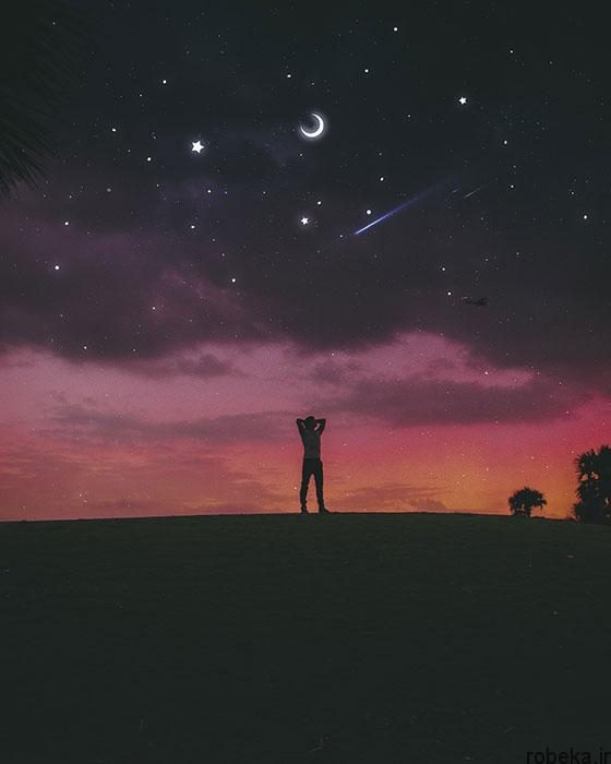 moon stars profile photos 15 عکس پروفایل ماه و ستاره فانتزی و کارتونی زیبا در شب