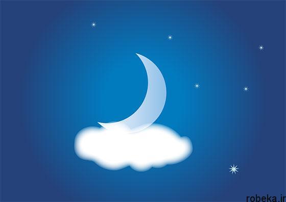 moon stars profile photos 16 عکس پروفایل ماه و ستاره فانتزی و کارتونی زیبا در شب