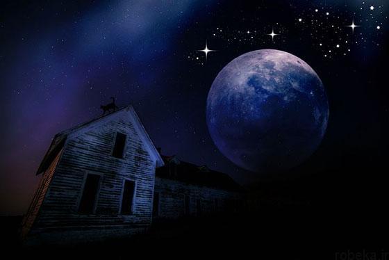 moon stars profile photos 2 عکس پروفایل ماه و ستاره فانتزی و کارتونی زیبا در شب