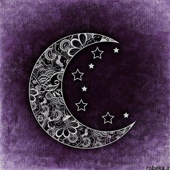moon stars profile photos 3 عکس پروفایل ماه و ستاره فانتزی و کارتونی زیبا در شب