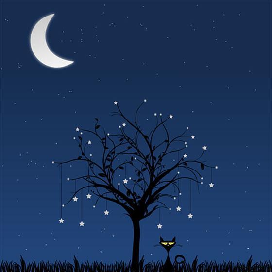 moon stars profile photos 5 عکس پروفایل ماه و ستاره فانتزی و کارتونی زیبا در شب