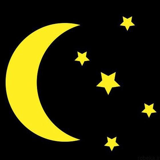 moon stars profile photos 7 عکس پروفایل ماه و ستاره فانتزی و کارتونی زیبا در شب